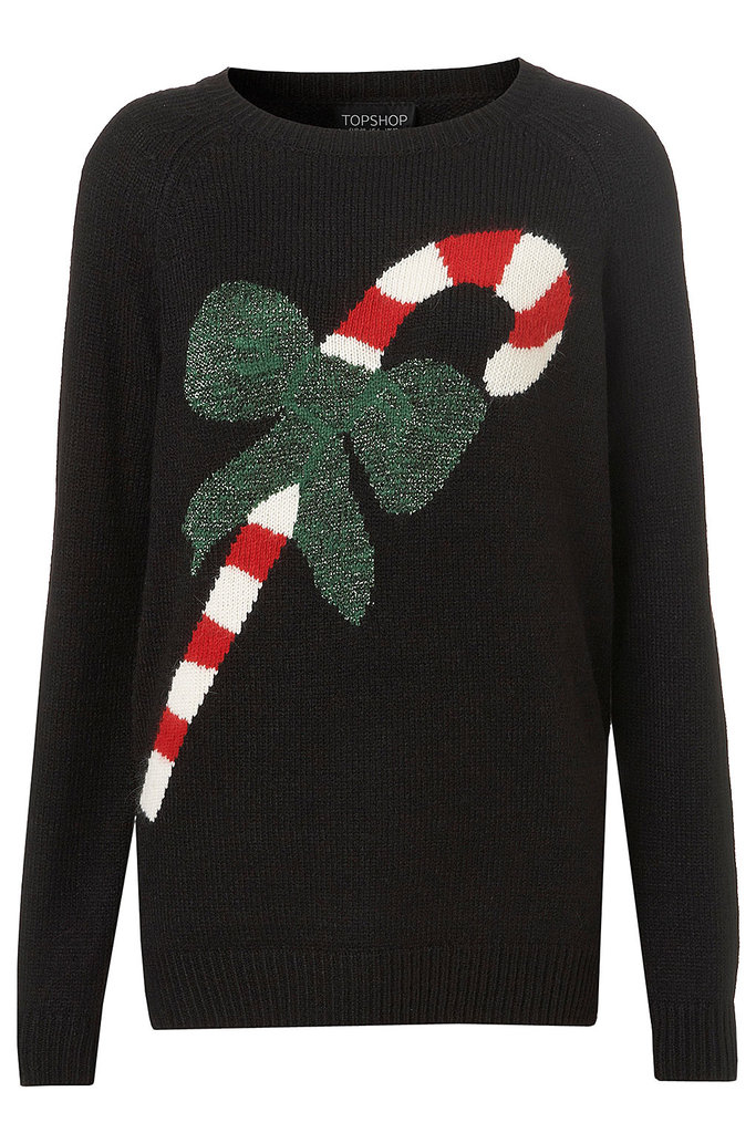 Ahh, candy canes: a true indication that the holiday season is here. Slip this Topshop Knitted Candy Cane Jumper ($100) on with a pair of sequined shorts and tights for a fun, festive party look.