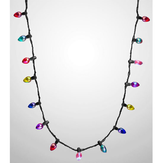 Christmas lights necklace, approx $8.50, Fred Flare