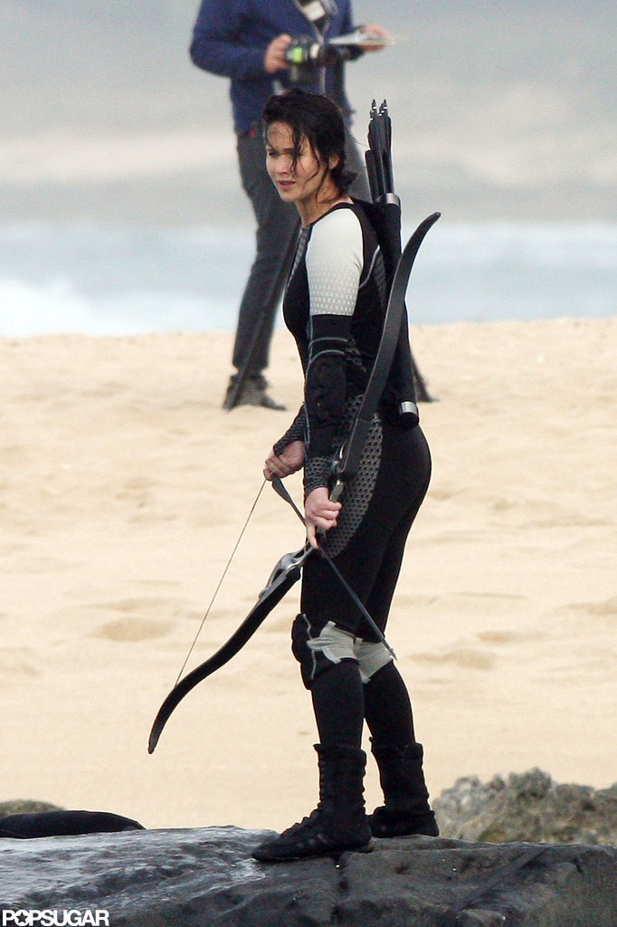 Jennifer Lawrence was in Hawaii to film for Catching Fire.