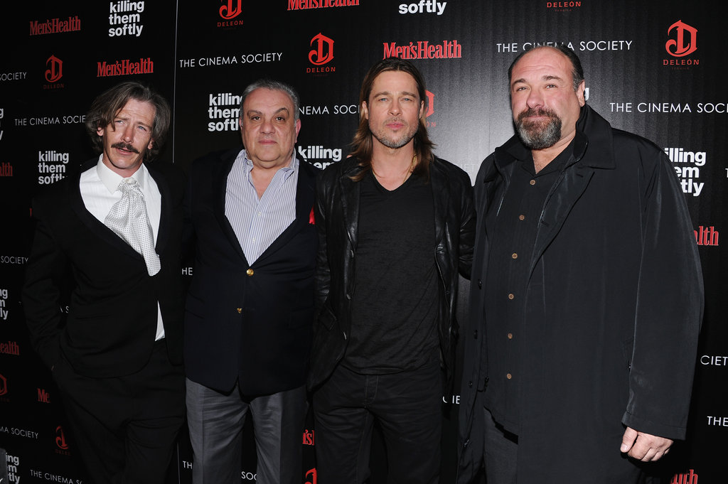 Brad Pitt posed on the red carpet with Ben Mendelsohn, Vincent Curatola and James Gandolfini.