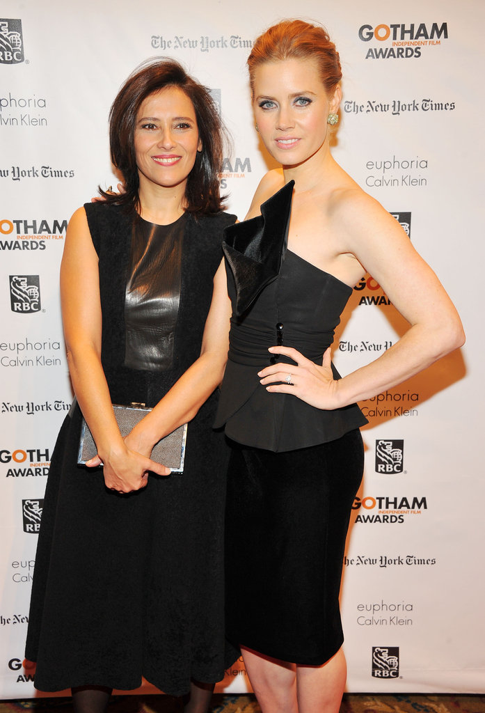 Amy Adams and Joana Vicente posed on the red carpet at the Gotham Independent Film Awards.