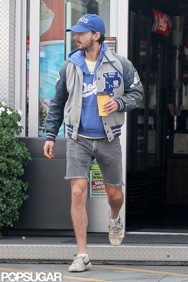 Shia LaBeouf carried coffee to go.