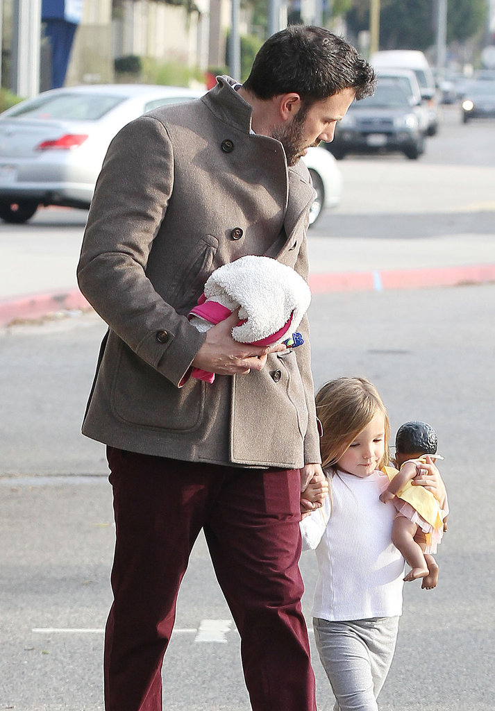 Ben Affleck stepped out with his daughter in LA.