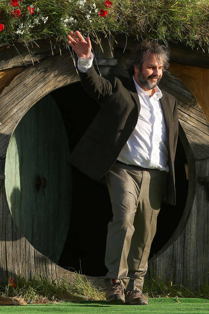 Director Peter Jackson waved to fans at the world premiere of The Hobbit: An Unexpected Journey.