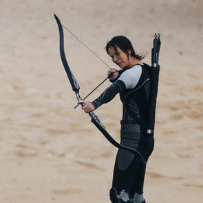 Jennifer Lawrence Filming Catching Fire Arena in Hawaii
