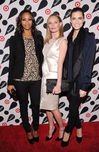 Zoe Saldana, Kate Bosworth, and Allison Williams