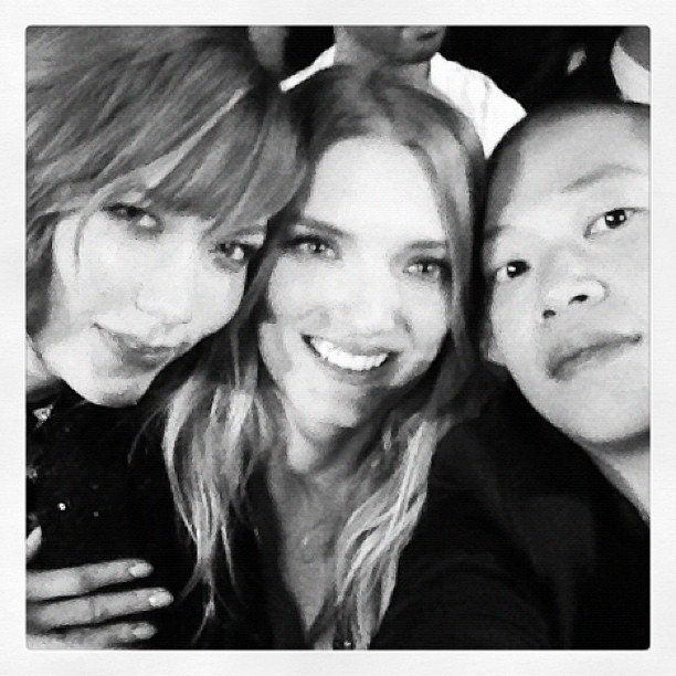 Karlie Kloss, Lily Donaldson, and Jason Wu partied together at the W Hangover Ball. Source: Instagram user jasonwustudio