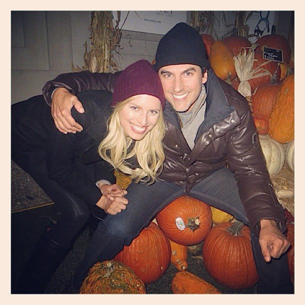 Karolina Kurkova went to a pumpkin patch with her honey. Source: Instagram user therealkarolinakurkova