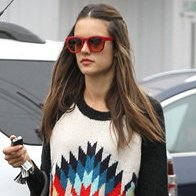 Alessandra Ambrosio's Rainy-Day Add-Ons: Fedora + Red Shades