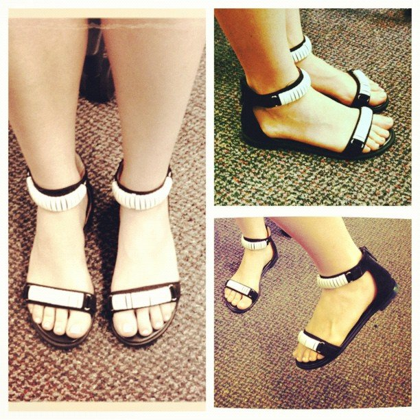 Ali loves her new Senso sandals, which she snapped up at a sample sale.