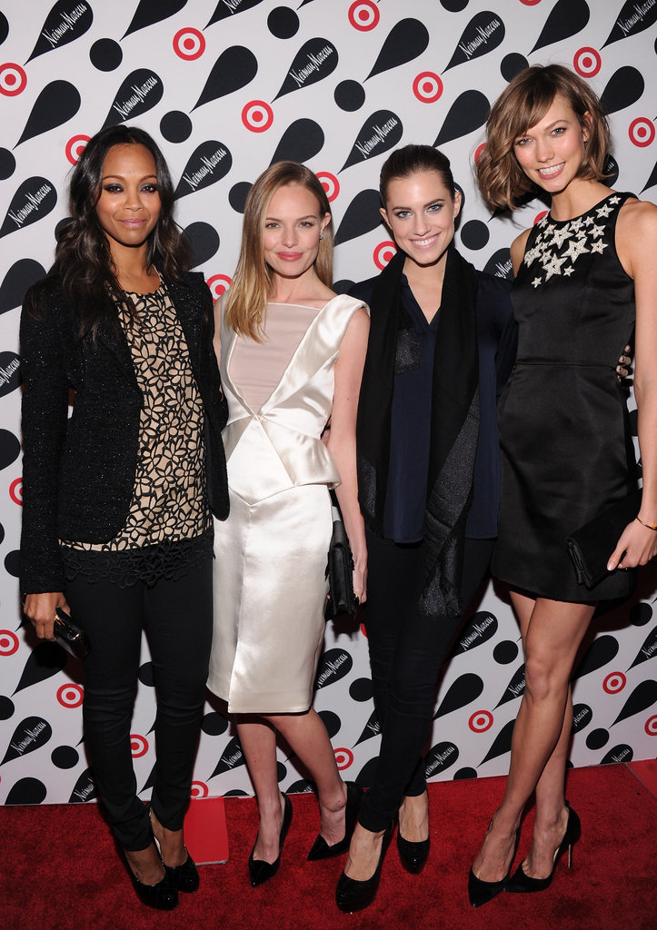 Stunning stylers Zoe Saldana, Kate Bosworth, Allison Williams and Karlie Kloss amped up the glam at a Target + Neiman Marcus Collection launch event in New York on November 28.