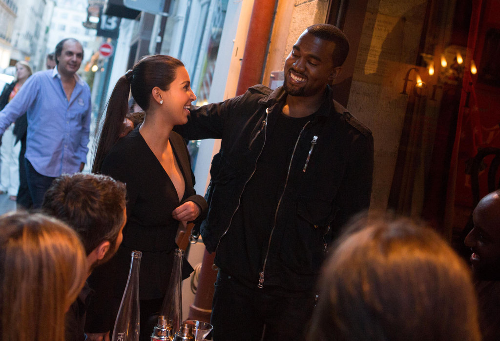 Kim and Kanye looked cute during a June 2012 dinner date in Paris.