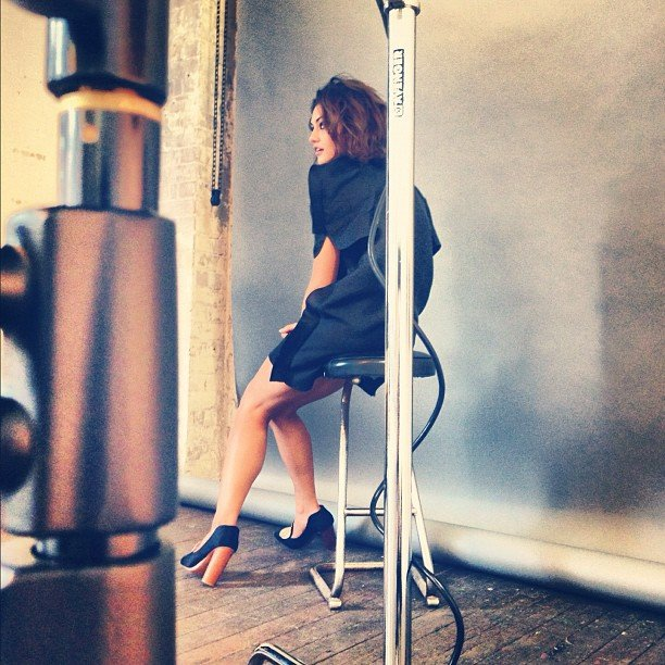 Behind the scenes of Phoebe Tonkin's photo shoot with Kym Ellery. Source: Instagram user kymellery