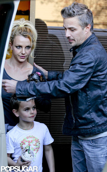Britney Spears and her boys left the California Music Academy.