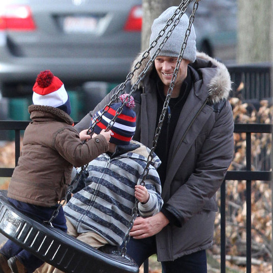 Tom Brady Pictures With Sons Jack and Benjamin