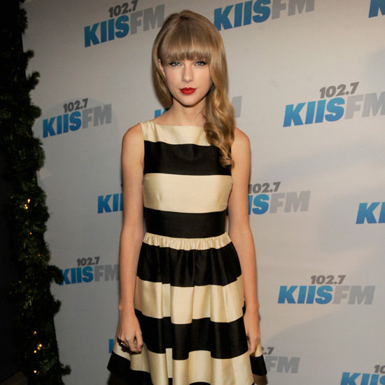 Taylor Swift Wearing Striped Dress