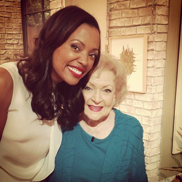 Aisha Tyler hung out with Betty White. Source: Instagram user aishatyler