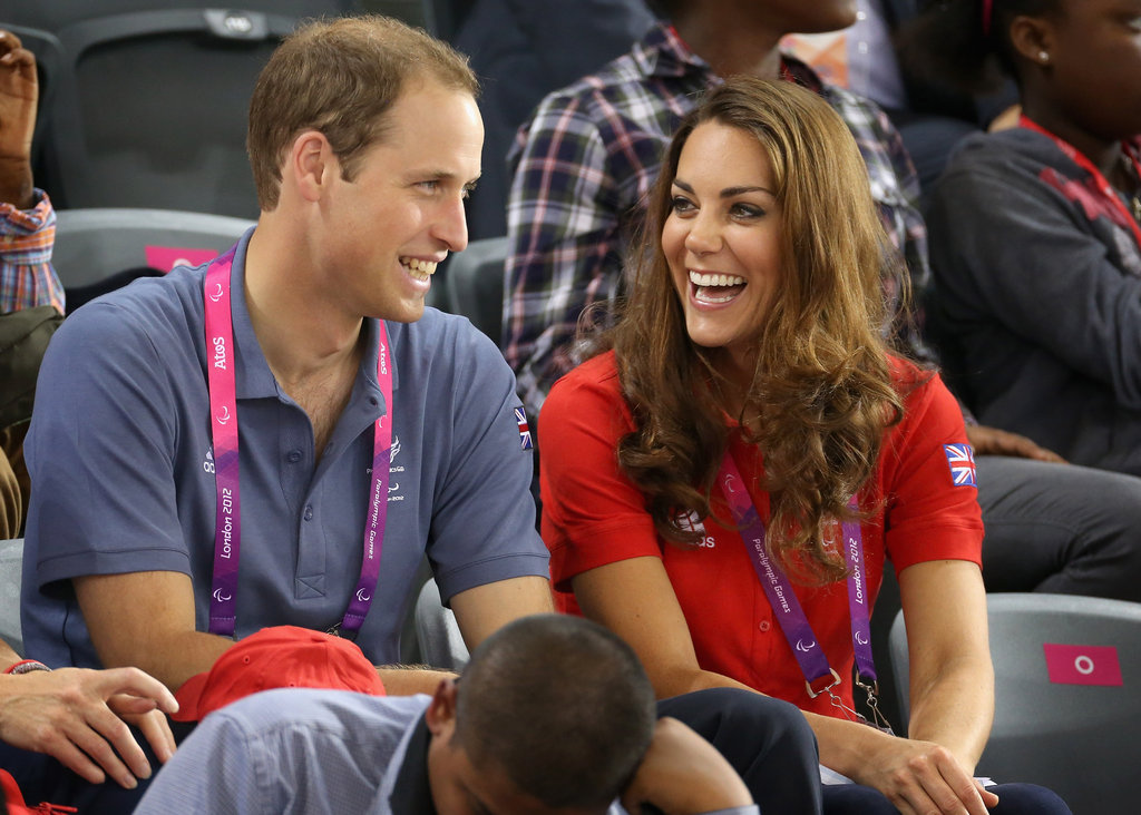 Kate Middleton and Prince William watched the paralympics in London in August 2012.