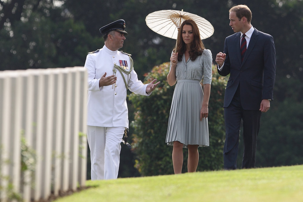 Kate Middleton and Prince William visited Singapore's Kranji Commonwealth War Cemetery in September during their East Asian tour.