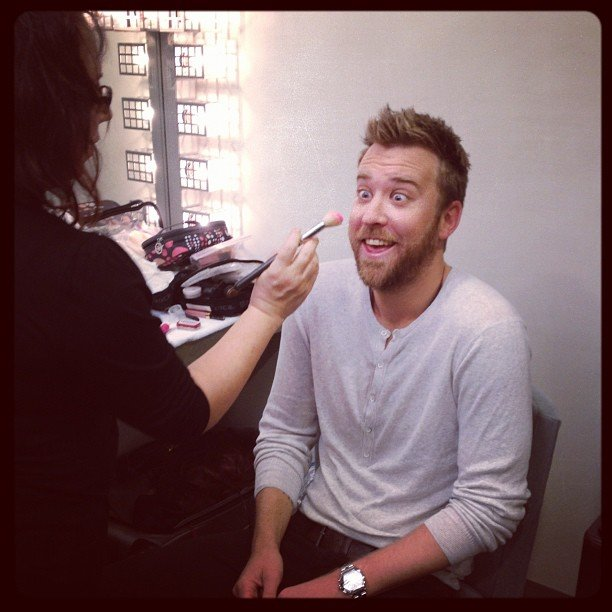Lady Antebellum's Charles Kelley got his makeup done. Source: Instagram user lady_antebellum