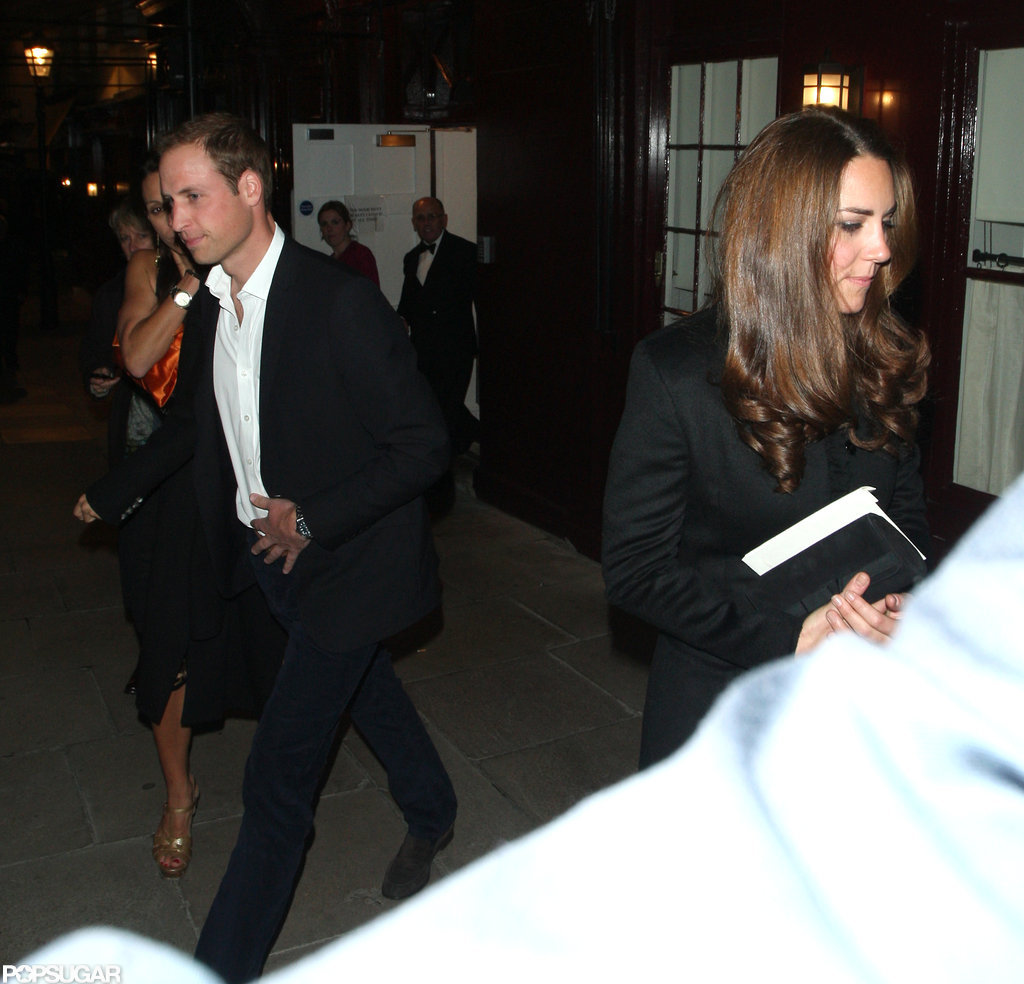 Kate Middleton and Prince William had a night out at Loulou's in London in October.