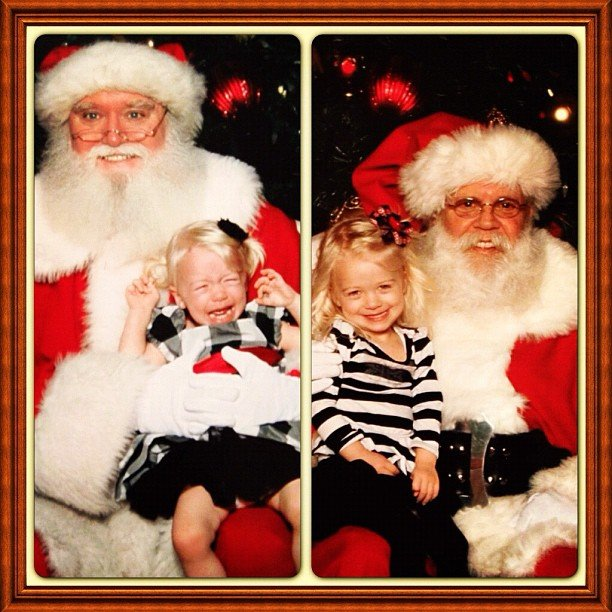 Julianne Hough shared some of her childhood photos with Santa. Source: Instagram user juleshough