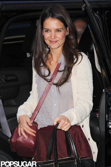 Katie Holmes looked cute and casual.
