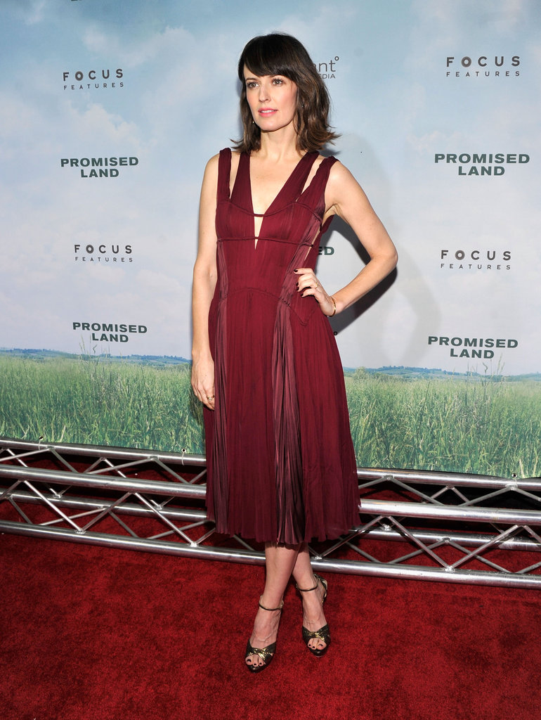 Rosemarie Dewitt wore a red dress for the NYC premiere.