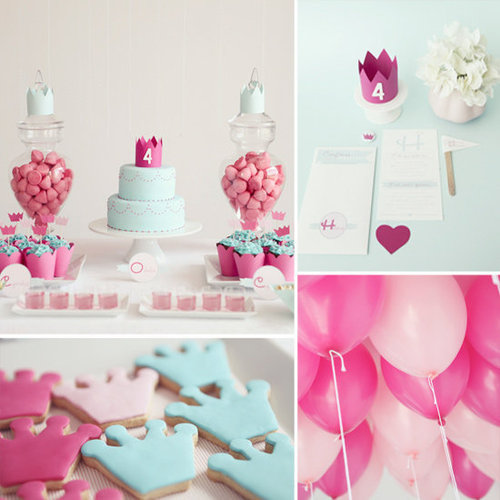 Birthday Parties: A Modern, Princess-Themed Birthday Party