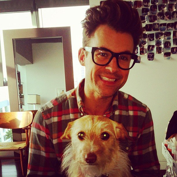 Brad Goreski posed with his sweet pup. Source: Instagram user mrbradgoreski