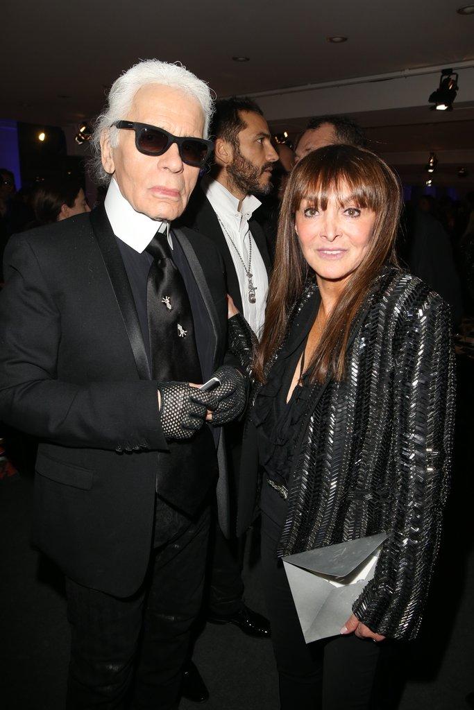 Karl Lagerfeld and Babeth Dijan