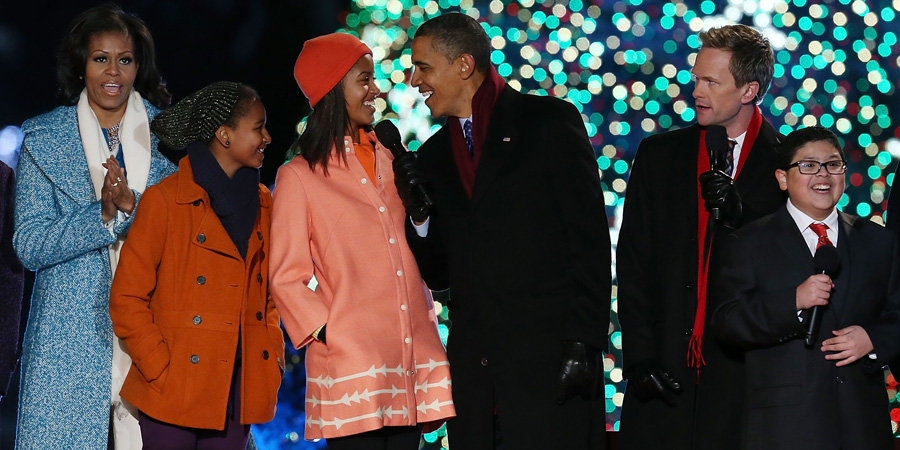 It's an Obama Family Sing-Along at the National Tree Lighting