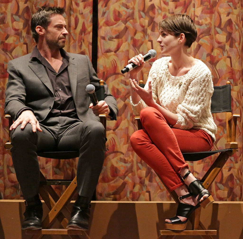 Anne Hathaway and Hugh Jackman attended a SAG screening for Les Misérables.