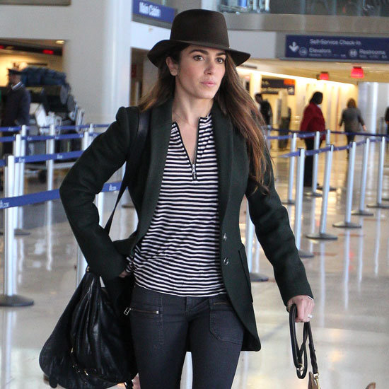 Nikki Reed Wearing Green Riding Coat