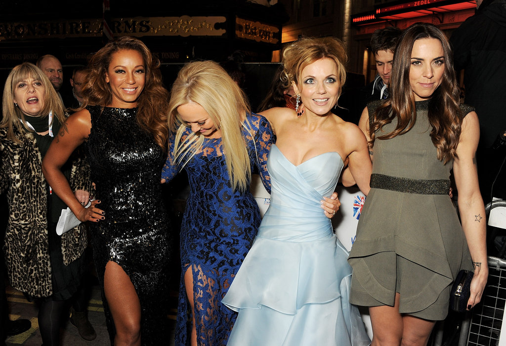 The Spice Girls reunited in London tonight.