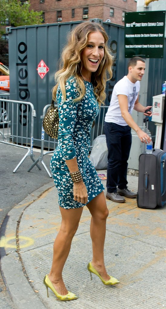Sarah Jessica Parker's still got it! The actress showed lots of leg while attending a runway show in September.