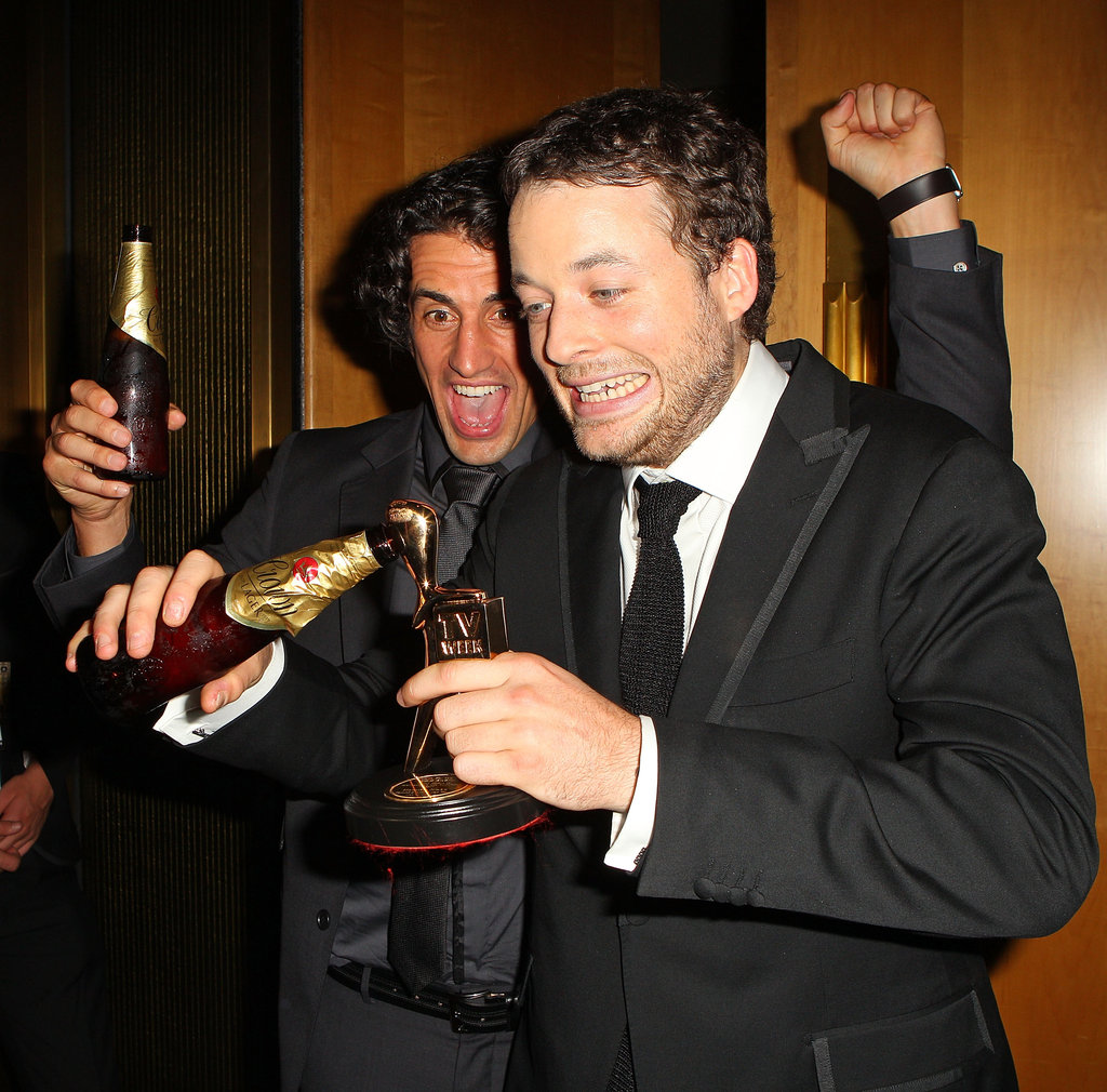 Hamish took home the Gold Logie in 2012! He let his statuette enjoy some of the celebrations.