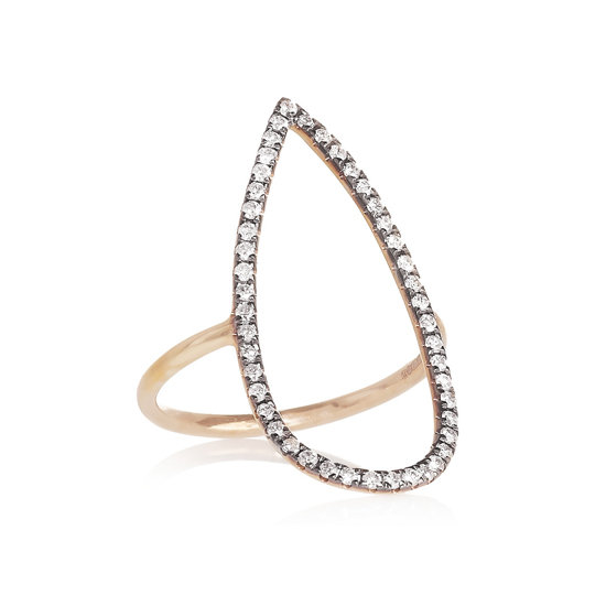 18 carat rose gold diamond ring, approx $2,161, Diane Kordas at Net-a-Porter