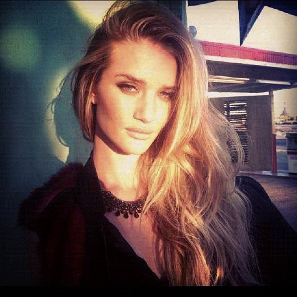 Rosie Huntington-Whiteley shared a sultry snap while on a ... Rosie Huntington Whiteley Instagram