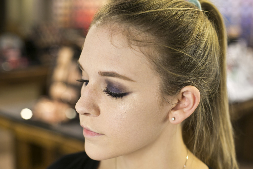 "To create a smoky eye, go over the pencil with a little bit of the eye shadow. ""Keep blending and tapping the eye shadow until you get the desired intensity,"" he says."