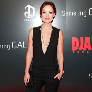 Olivia Wilde Wearing Red Studded Pumps