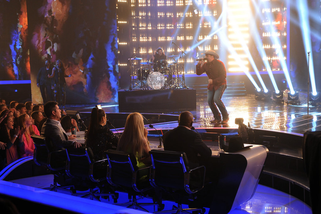 Tate Stevens performed in front of the judges.