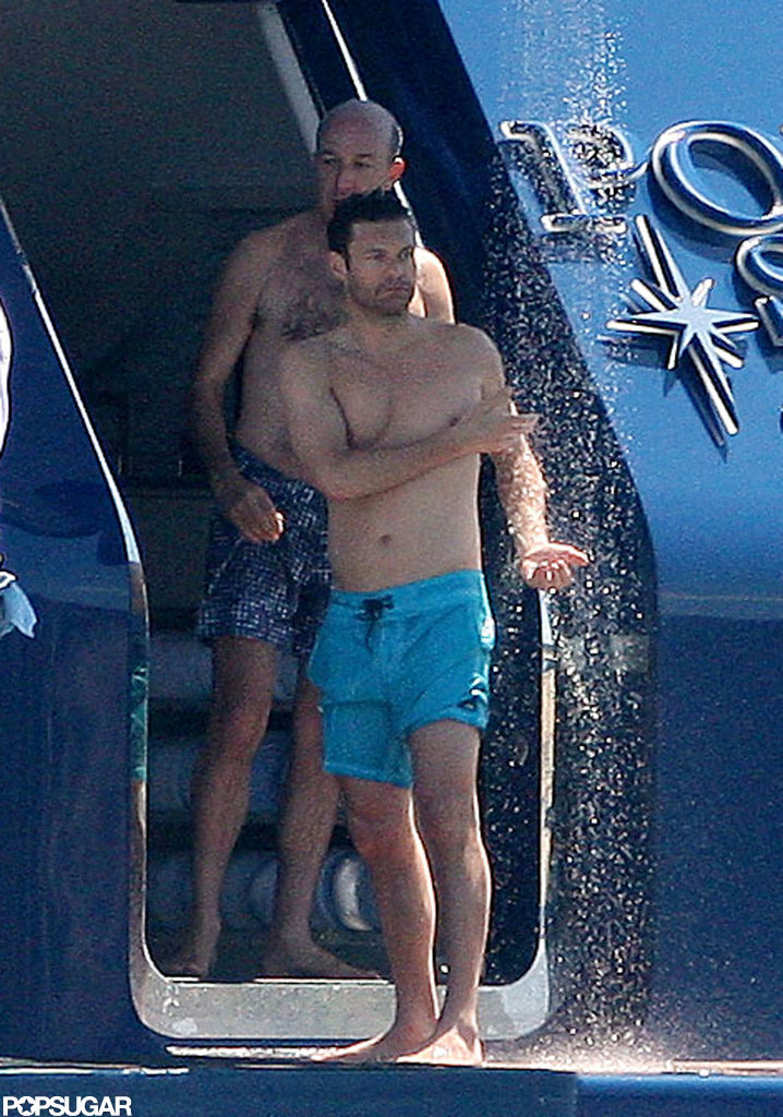 Ryan Seacrest went shirtless for a day of Jet-Skiing in Saint-Tropez this  June.
