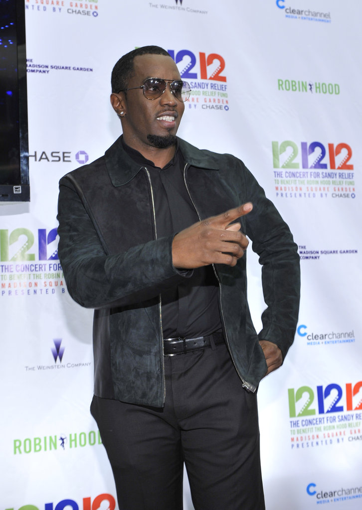 Diddy stepped out to attend the 12-12-12 Robin Hood Relief Fund concert in NYC.