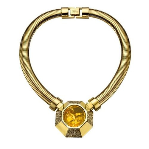 For the girl who likes to make a statement, this Mawi hexagon foil and chain necklace ($846) is the ultimate, irresistible, show-stopping piece. — Chi Diem Chau, associate editor