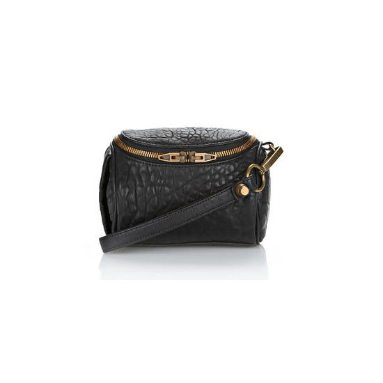 Alexander Wang Fumo Make-up Case in Black Pebble Lamb, approx $256