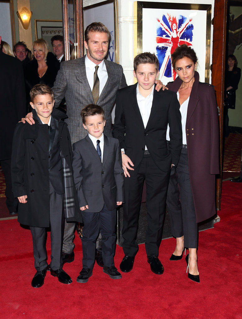 David and Victoria Beckham took their boys to the London premiere of Viva Forever in December.