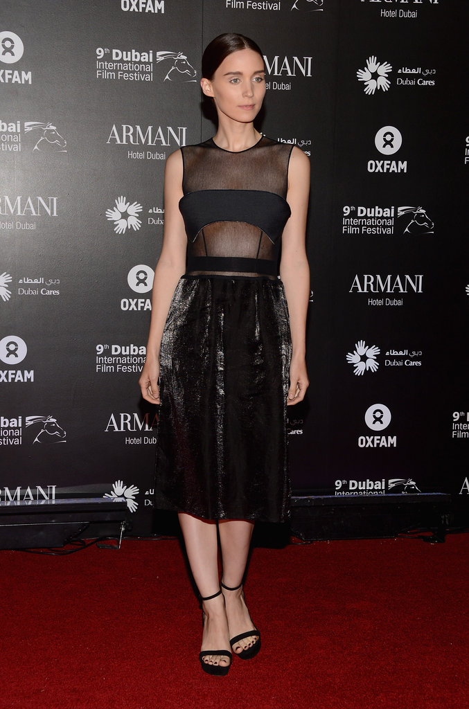 Rooney Mara stepped out in Calvin Klein.