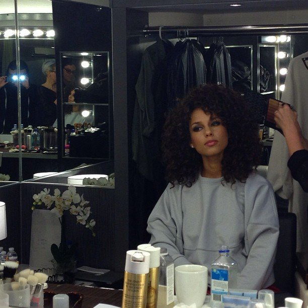 Alicia Keys got dolled up.  Source: Instagram user aliciakeys