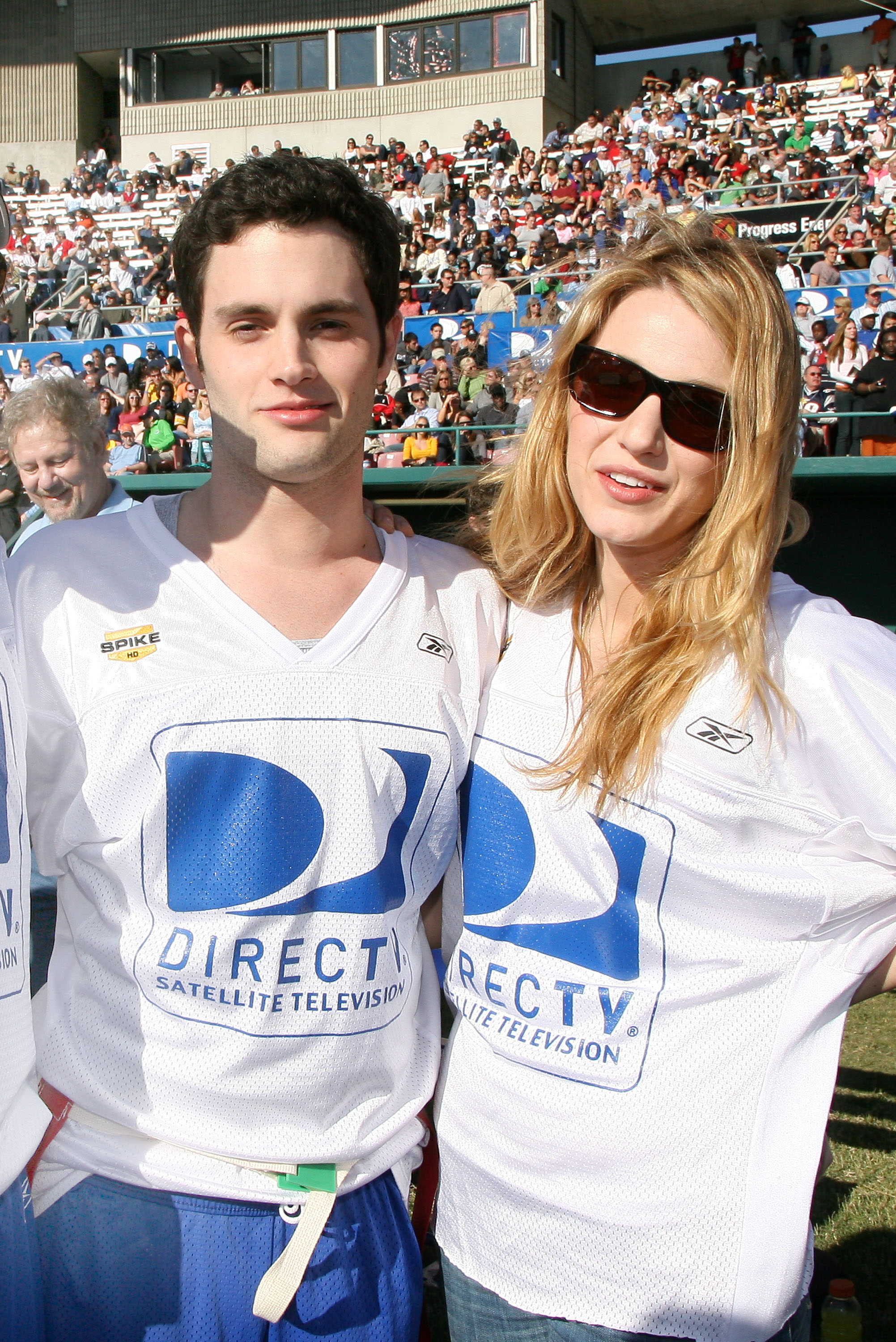 Blake Lively and Penn Badgley buddied up at DirecTV's third annual Celebrity Beach Bowl held in St. Petersburg, FL, in January 2009.